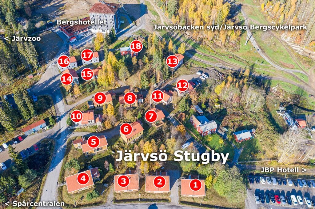 Järvsö Stugby numrerat